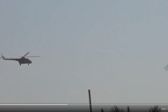 Rare air support in the form a helicopter used to counter an ISIS attack near Humaymah.