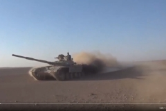 A T-72M used to counter an ISIS attack near Humaymah.