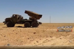 A newly arrived GRAD launcher used to defend against an ISIS attack near Humaymah.