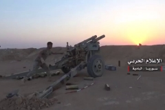 Two 105 mm M101 howitzers used to attack ISIS-held Humaymah on August 14th.