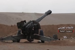 A D-20 152mm howitzer used to attack ISIS-held Humaymah on August 14th.