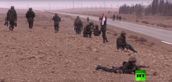 RT Arabic was one of the only foreign news organisations stationed with Syrian Army troops during the 2017 Palmyra Offensive.