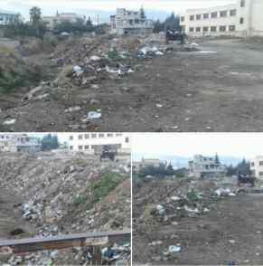 A November 2017 post depicting trash-filled streets in Talaat Rekhtin.