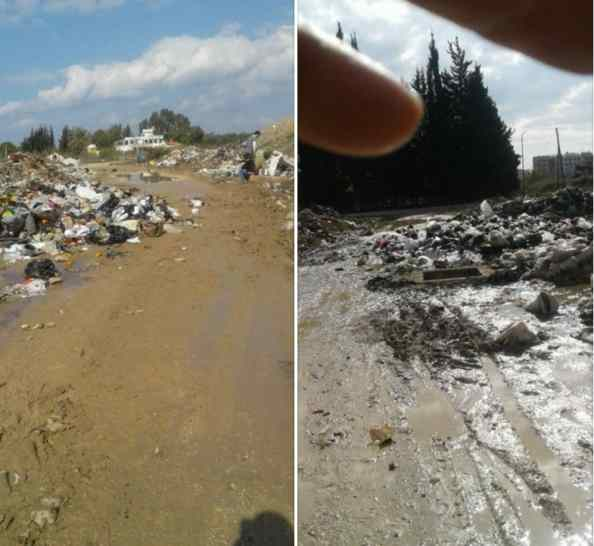 A January 2018 post from the city of Latakia showing piles of trash in the Naqa'a neighbourhood.