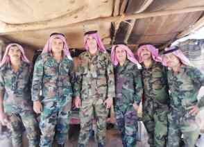 Members of the Border Guards deployed in central Syria.