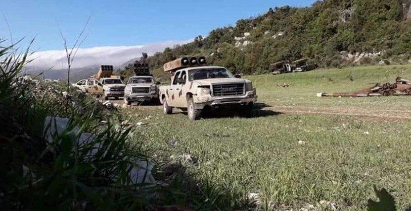 4th Division Golan launchers outside Kabani